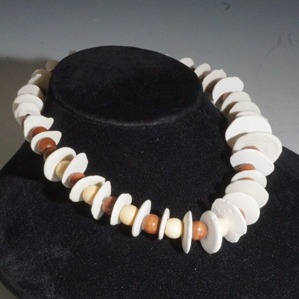 Short Wooden Bead Necklace