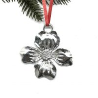 House of Morgan Dogwood Pewter Ornament