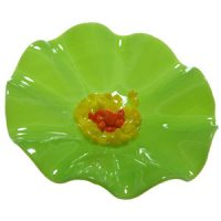 Glass Flower XL Wall Green